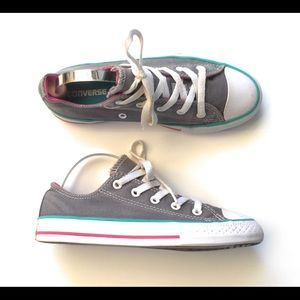 Girls Converse Double Tongue Sneakers-Size 2